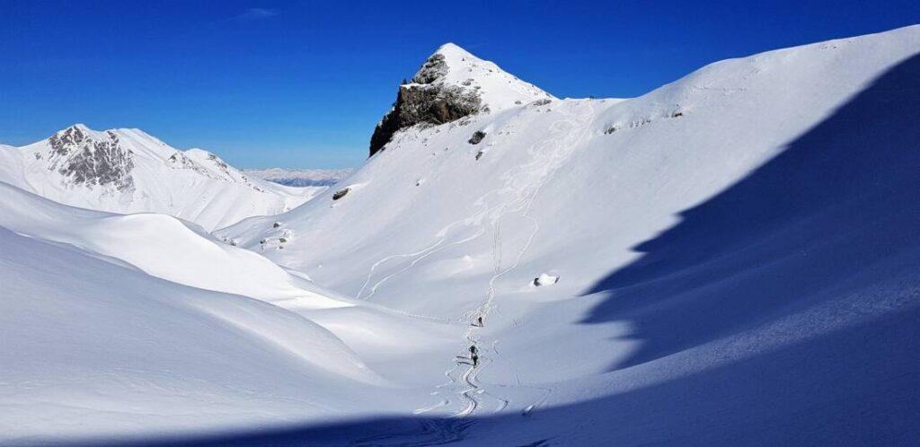 Costa Campaula e Monte Ciotto Mien da Folchi di Vernante - Scialpinismo