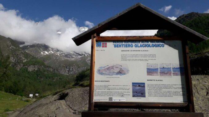 Il sentiero glaciologico dell'Alta Valsesia disponibile inglese